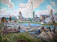 Картина «Южноуральские старатели в г. Пласте», автор А.Н.Тумбасов